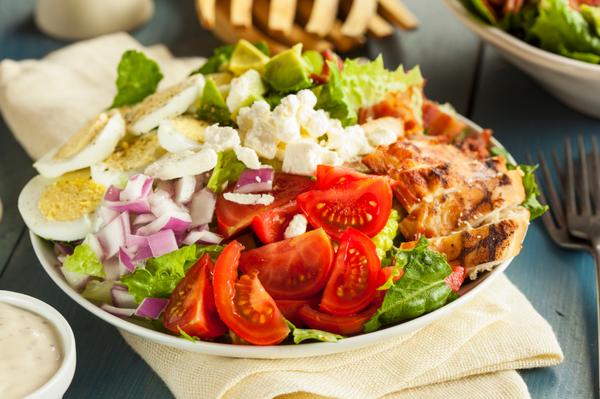 Classic Salad Recipe: Super Stuffed Cobb Salad – 12 Tomatoes